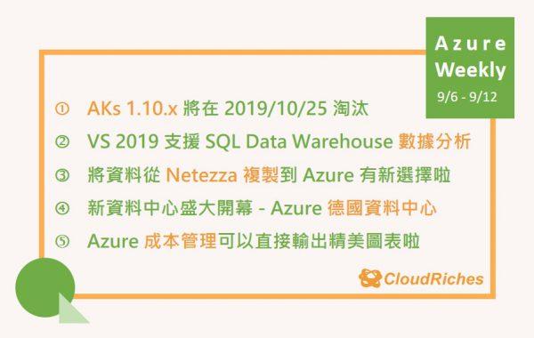 9月 Azure weekly